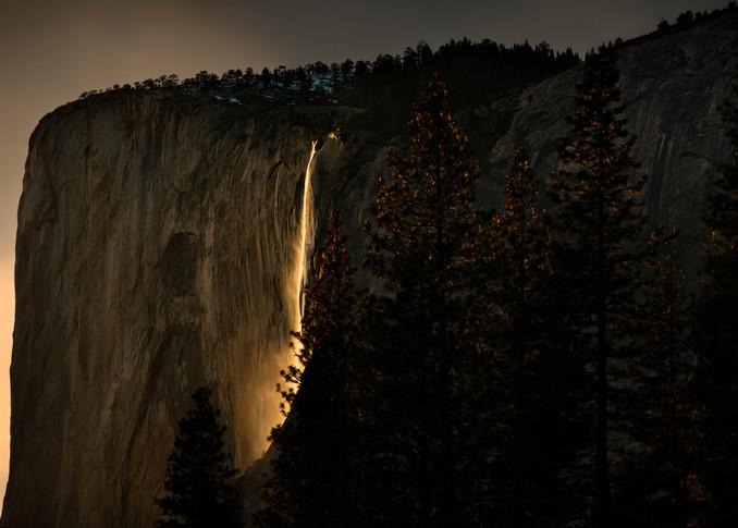 Firefalls Gold Horizontal Photography Art | templeimagery