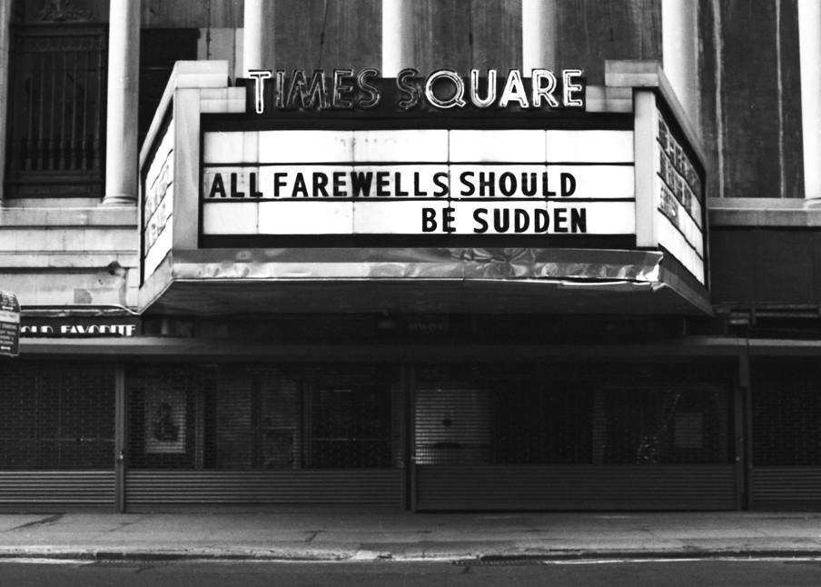 All Farewells Should Be Sudden Photography Art | Peter Welch