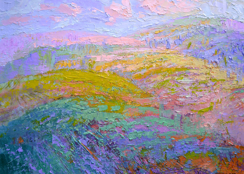 Abstract Mountain Landscape Painting Fine Art Print by Dorothy Fagan