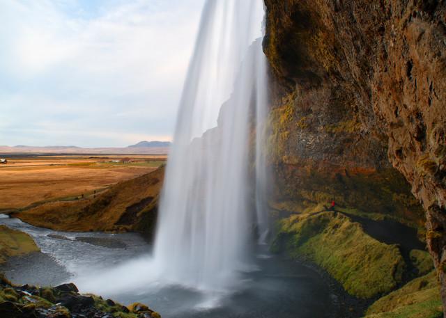 Behind Seljalandsfoss Photography Art   templeimagery