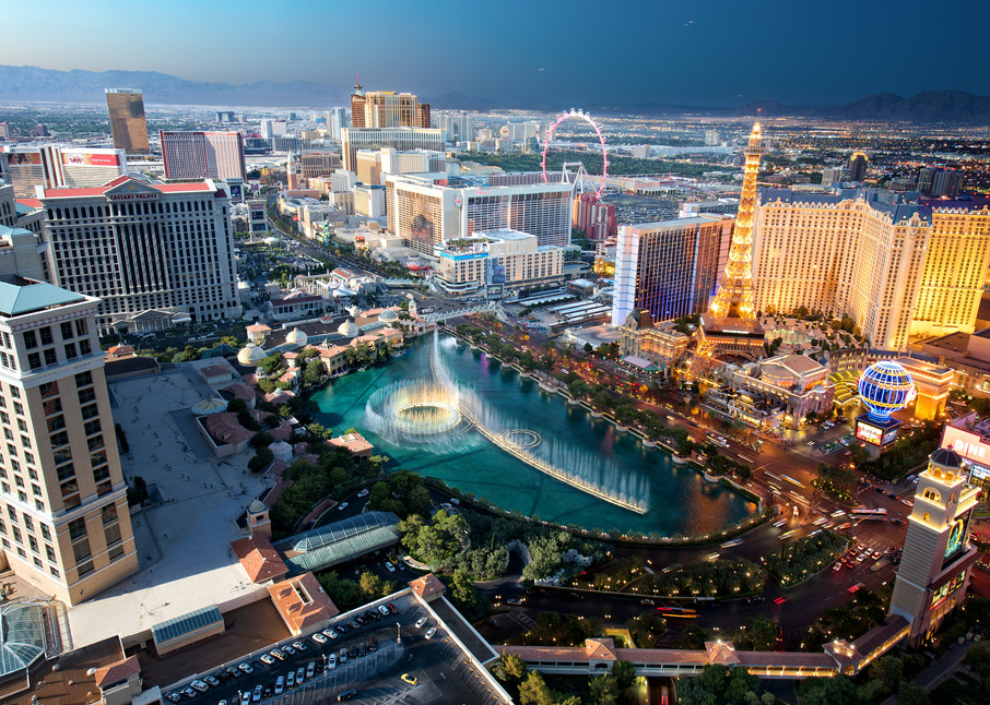 Vegas Sundown Photography Art | templeimagery