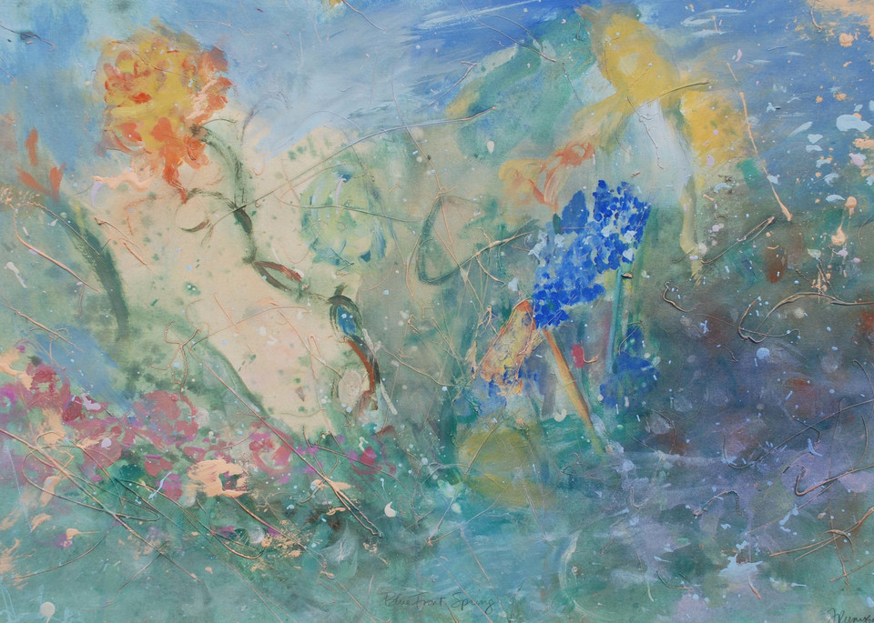 Blue Front Spring Art | All Together Art, Inc Jane Runyeon Works of Art