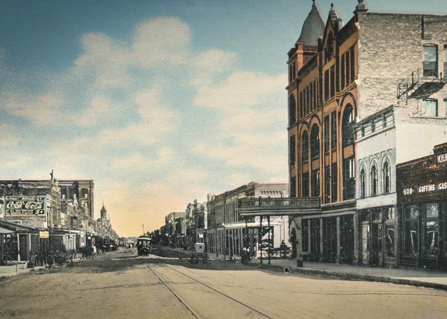 Main Street Looking East From Myrick Avenue, Denison, Texas Art | Randy Sedlacek Photography, LLC