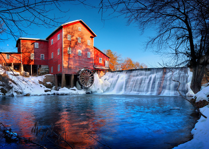 Winter Mill Photography Art   templeimagery