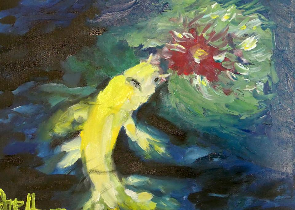koi art water lily