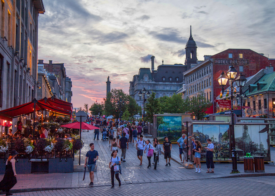 Summer In Old Montreal - Prints