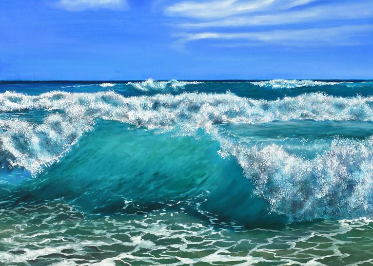 Beach Waves  Art   MMG Art Studio   Fine Art Colorado Gallery