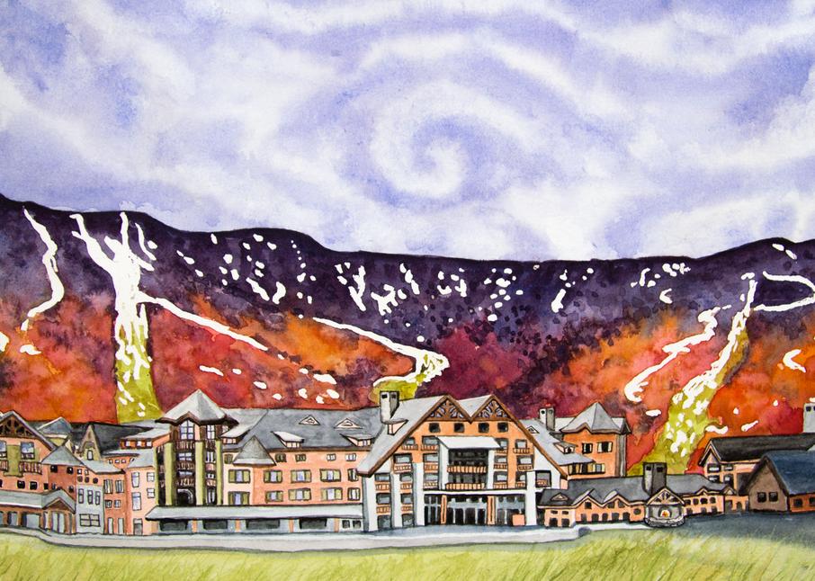 Stowe Mountain Lodge Art for Sale