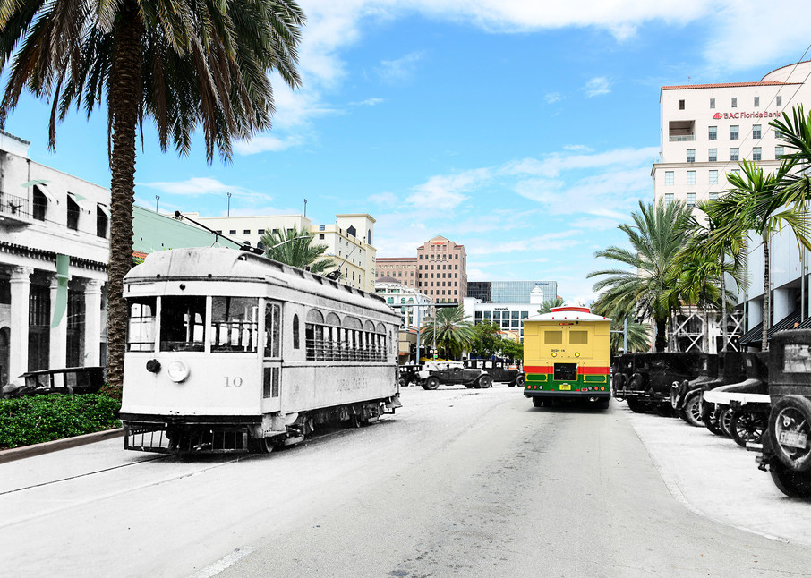 Ponce De Leon Boulevard At Miracle Mile   Coral Gables Art | Mark Hersch Photography
