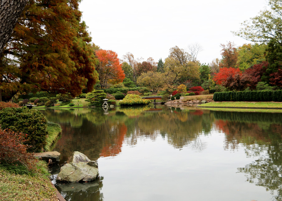 Fall Reflections at the Japanese Garden