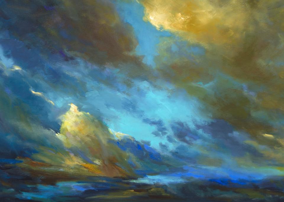 Coastal Clouds 38 Print by Sheila Finch