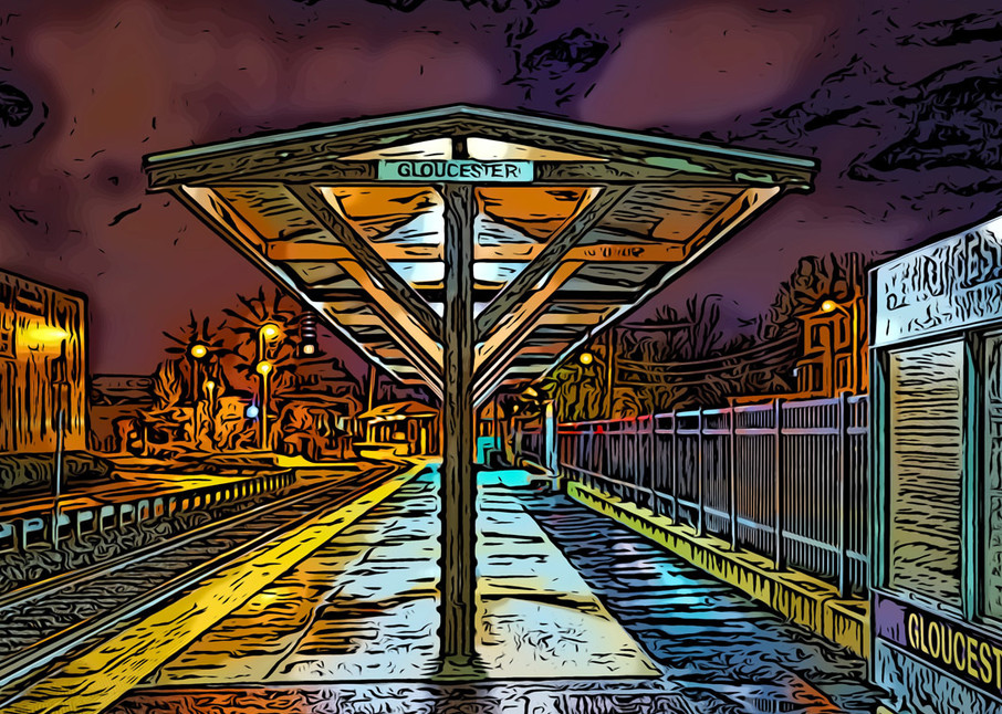 Gloucester Train Station Art | capeanngiclee