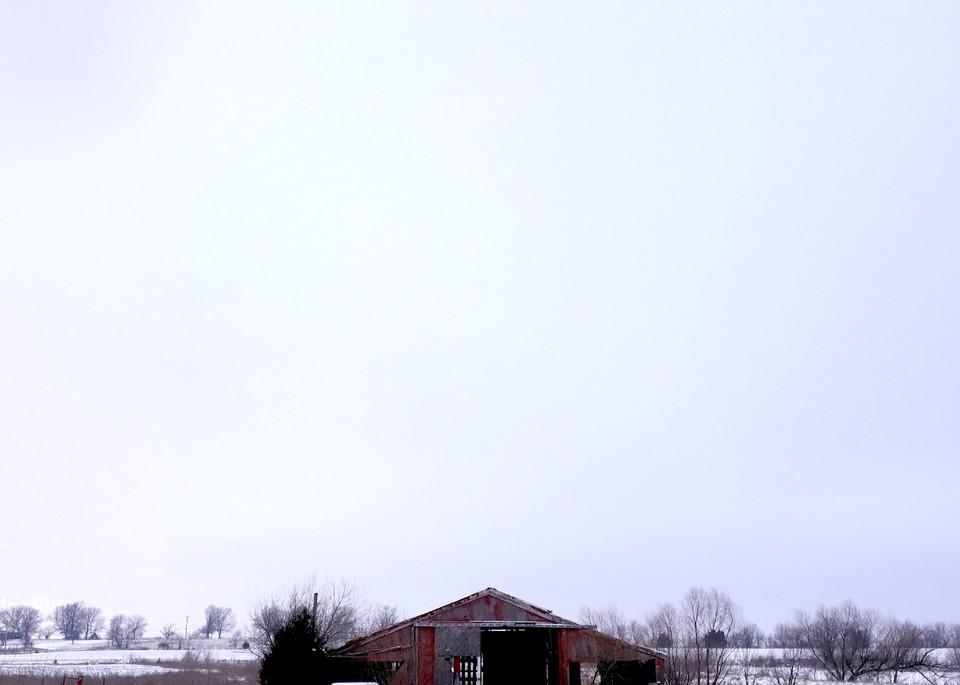 Kansas Winter Barn