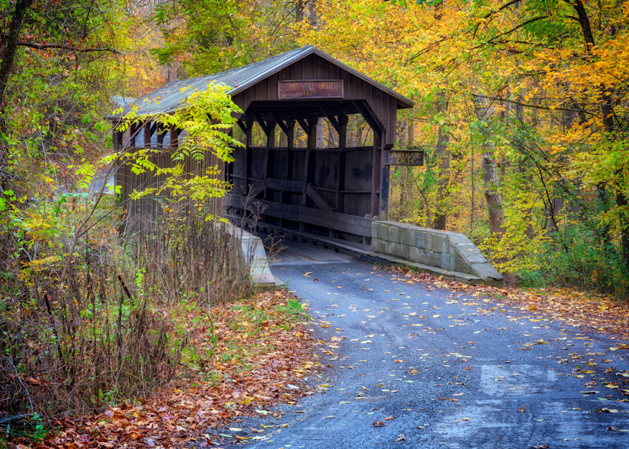 Autumn at Herns Mill Bridge   Shop Photography by Rick Berk
