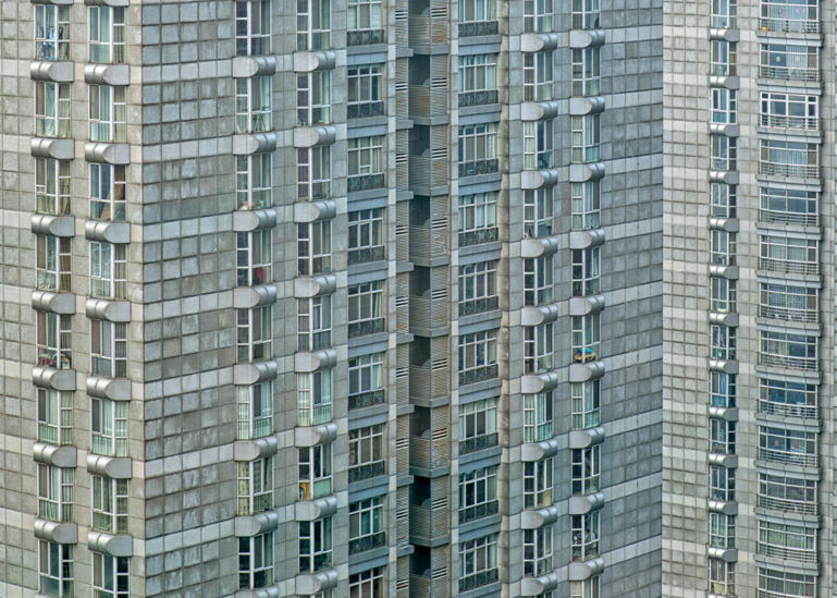 Beijing Apartment Building, 2018. Photography Art | Tom Stahl Photography