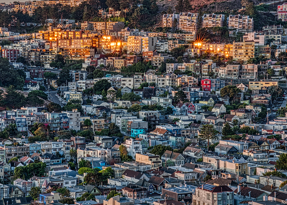 Sunrise On The San Francisco Hills, 2019.  Photography Art | Tom Stahl Photography