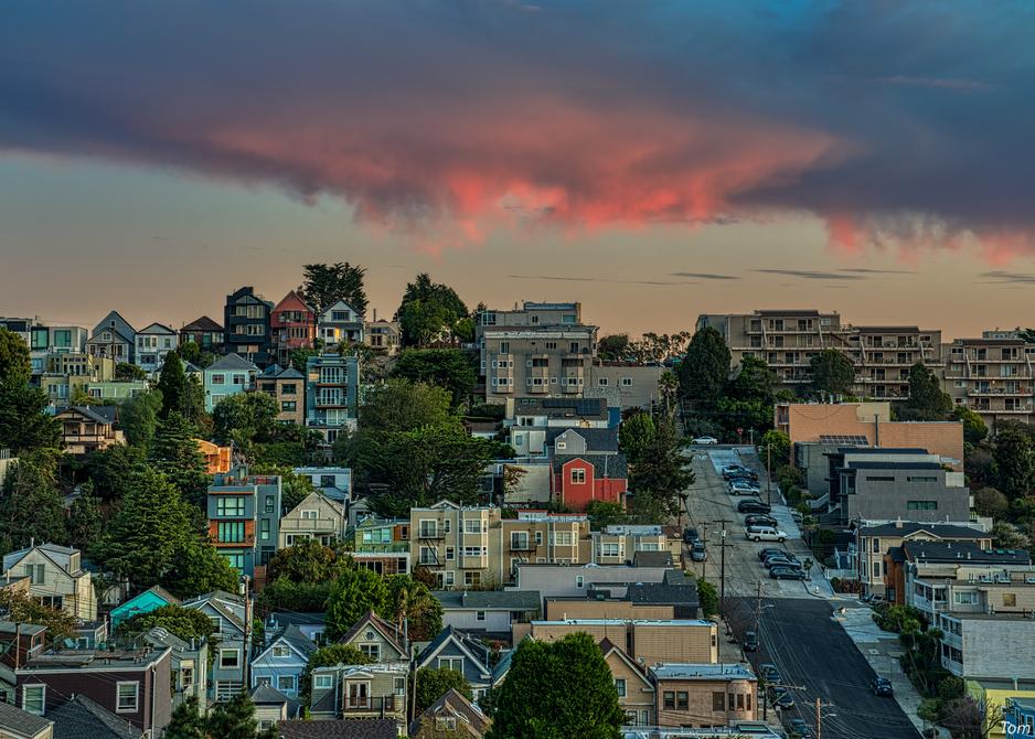 Castro Street Sunrise, 2019. Photography Art | Tom Stahl Photography