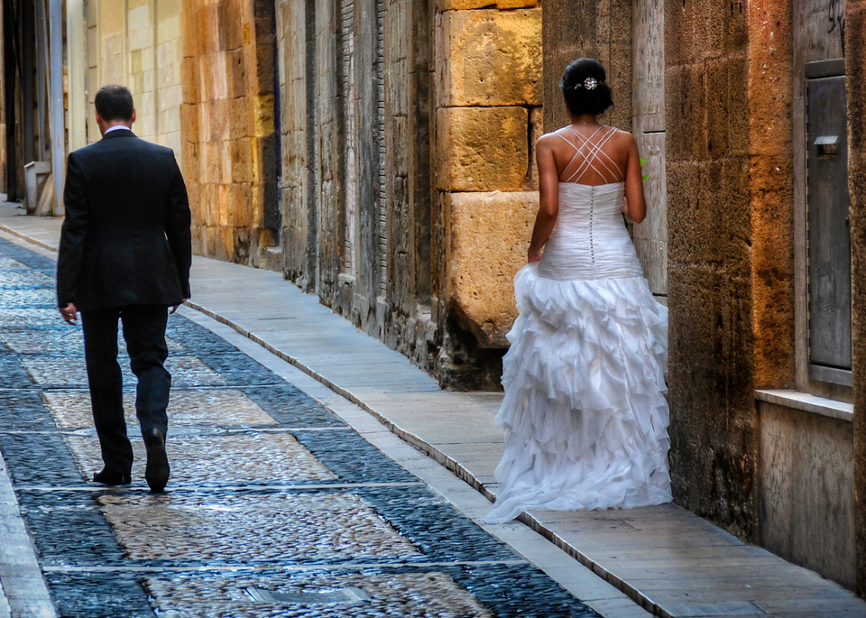 Groom And Bride, Tarragona, Spain, 2014. Photography Art | Tom Stahl Photography