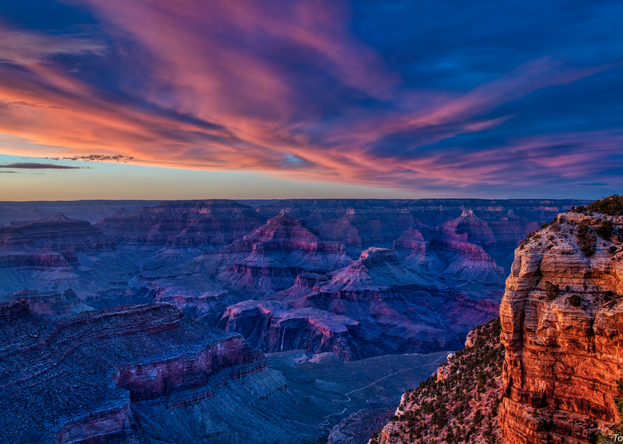 South Rim Sunset, 2019. Photography Art | Tom Stahl Photography