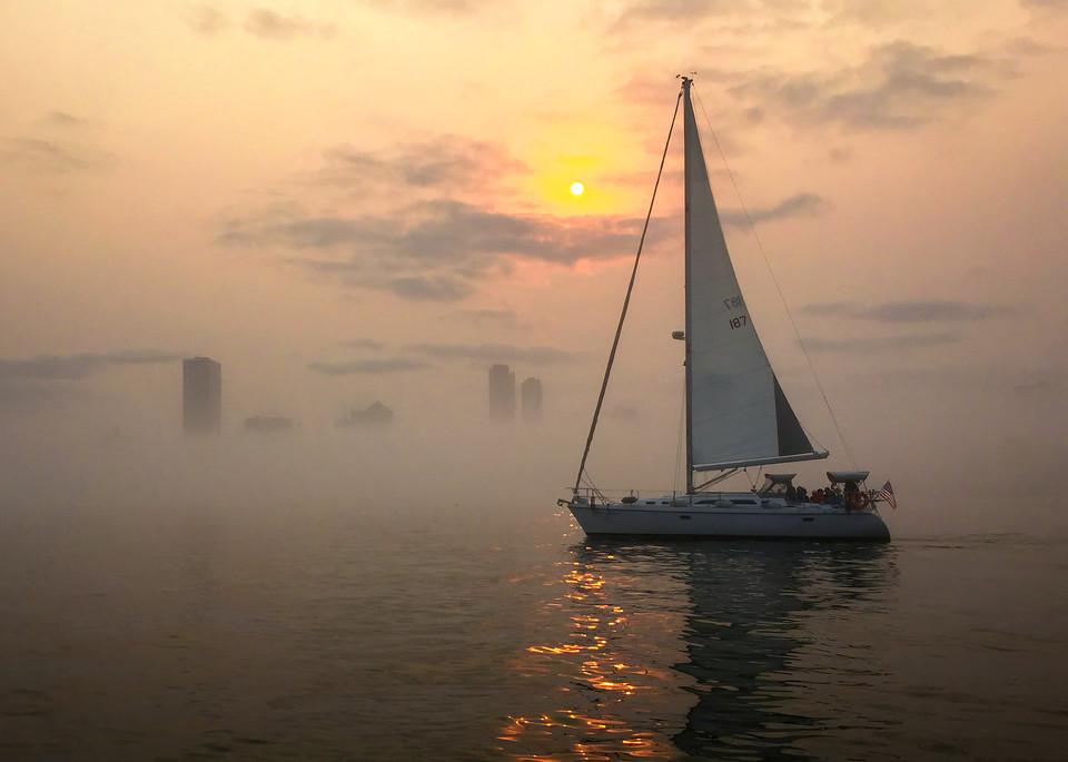 Foggy Sunset Photography Art   Mark Stall IMAGES