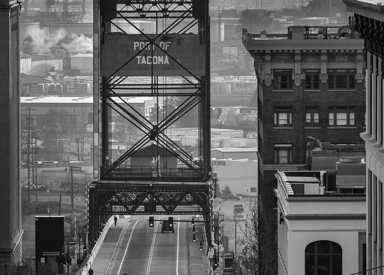 Murray Morgan Bridge, also known as the 11th Street Bridge, in Tacoma, Washington.