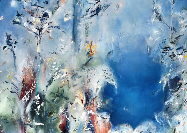 Morning Bloom - Original Abstract Landscape Painting | Samantha Kaplan