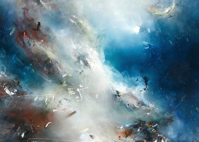 Dichotomy - Original Abstract Landscape Painting | Samantha Kaplan