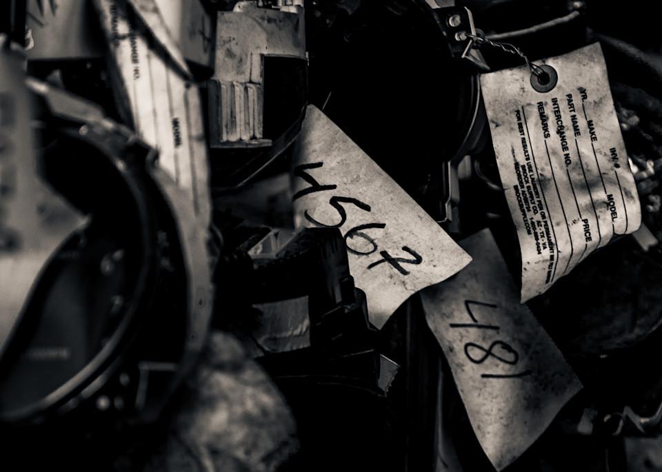 Scrap Yard Labels Photography Art | Dan Katz, Inc.