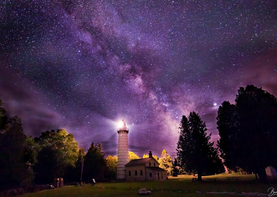 Cana Island Lighthouse and The MIlky Way