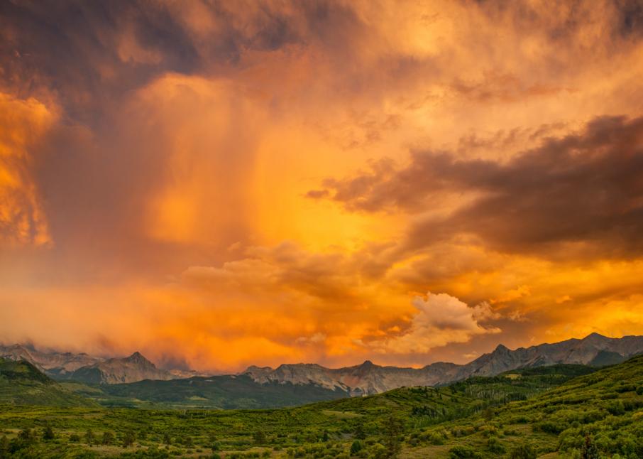 Fire Sky Above Mount Sneffels Photography Art | Craig Primas Photography