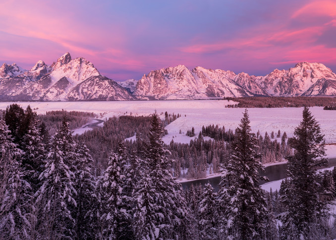 First Blush - Teton Range Sunrise #2106