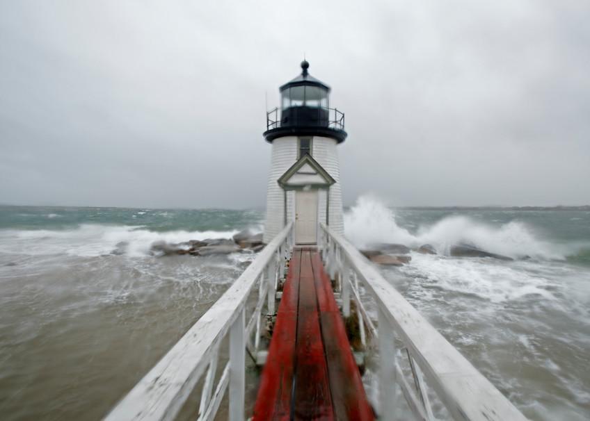 Brant Point Storm Photography Art   Kit Noble Photography