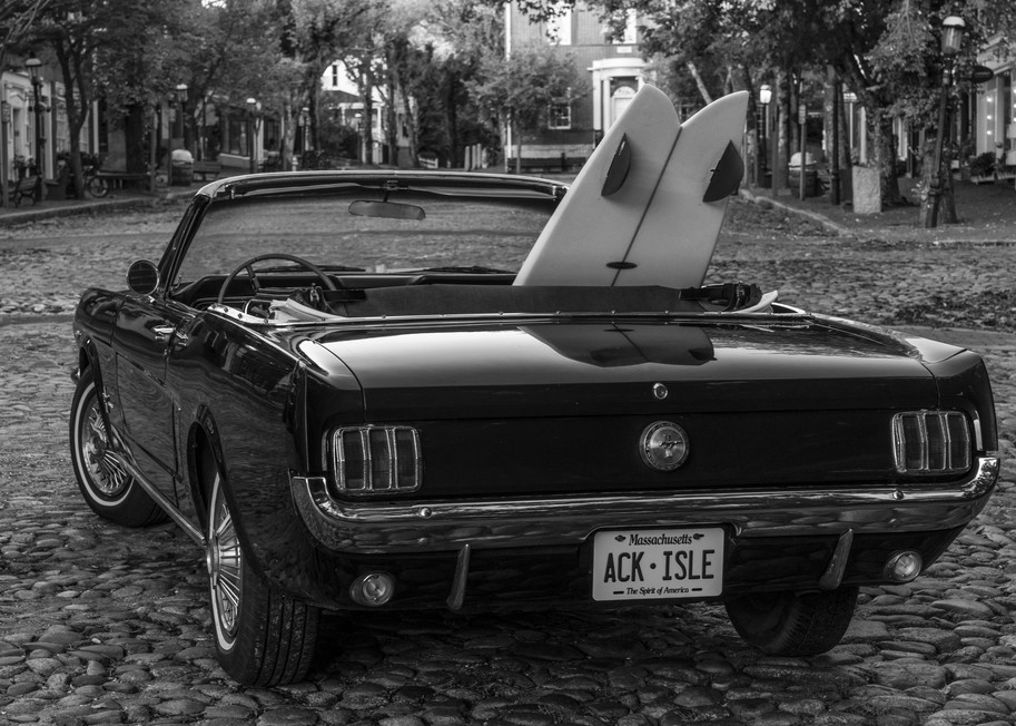1965 Mustang With Vintage Surfboard #4 Photography Art | Kit Noble Photography