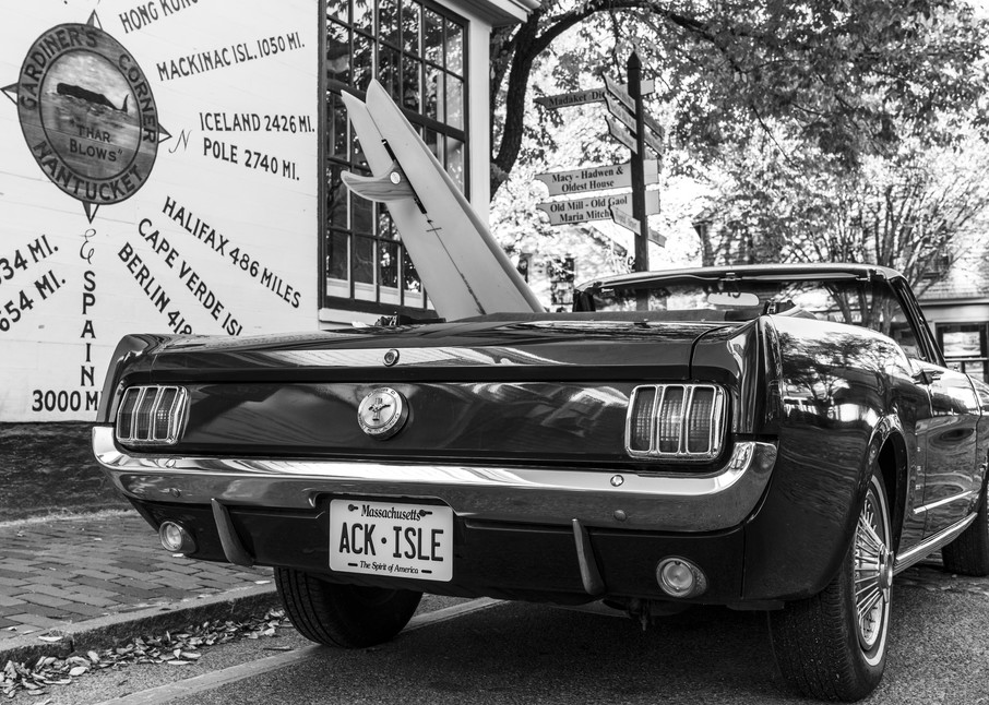 1965 Mustang With Vintage Surfboard #3 Photography Art | Kit Noble Photography