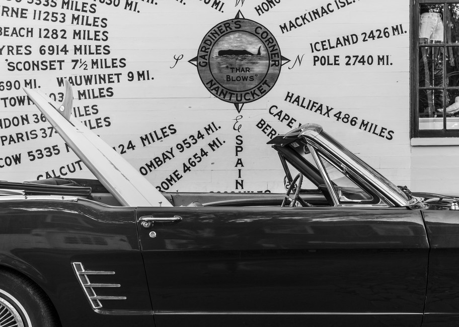 1965 Mustang With Vintage Surfboard #1 Photography Art | Kit Noble Photography