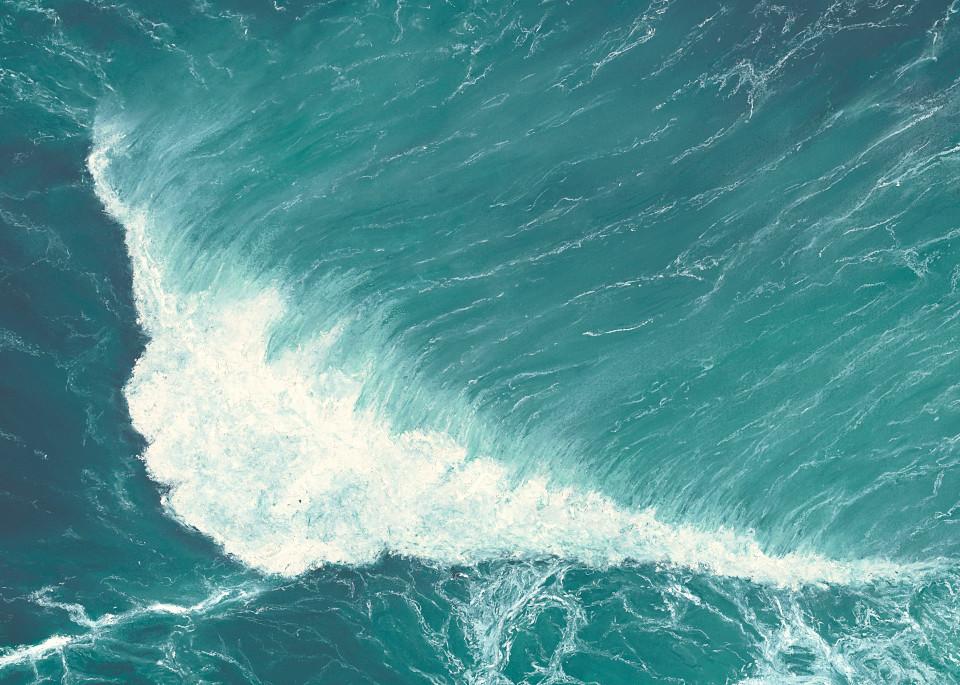 S.Gehring - Oregon Coast Wave Art - Deep Green