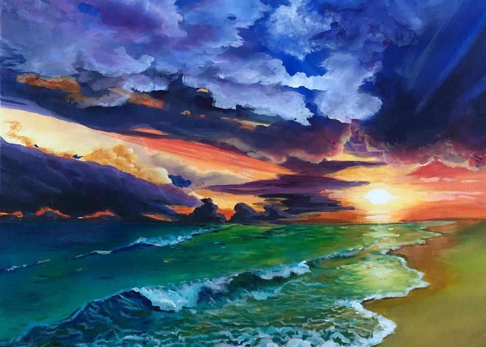 Sunset At Destin Beach Art | House of Fey Art