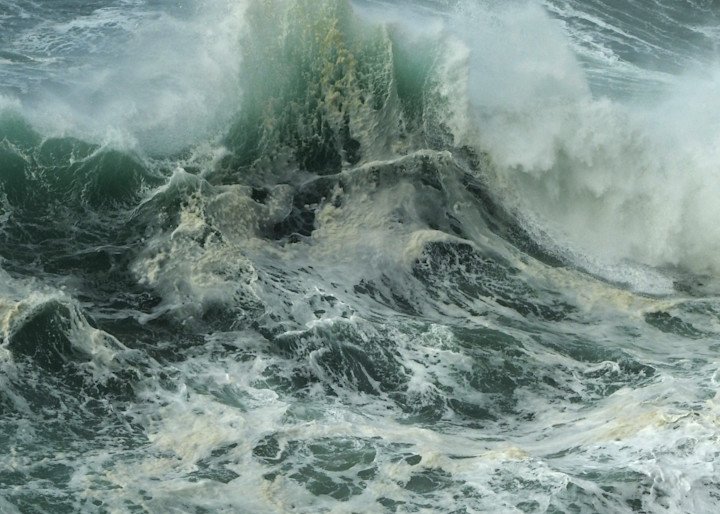 S.Gehring - Oregon Coast Photography - Waves Colliding 1/1/2020