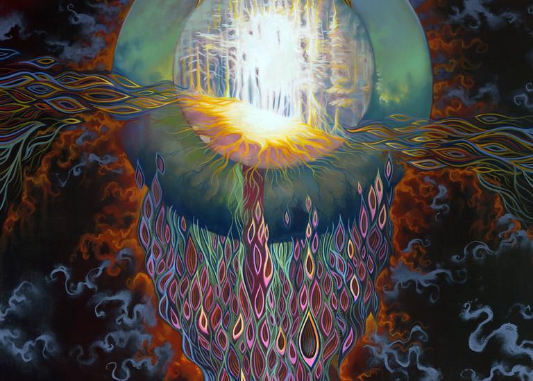 Seed original painting by artist Spencer Reynolds