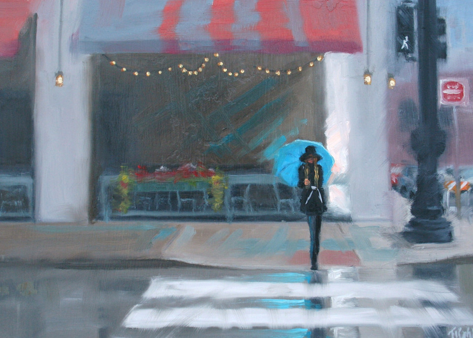 Rainy Day Blue Art | Thalia Kahl