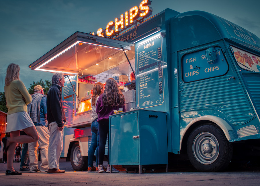 Fish And Chips On The South Bank Art | Martin Geddes Photography