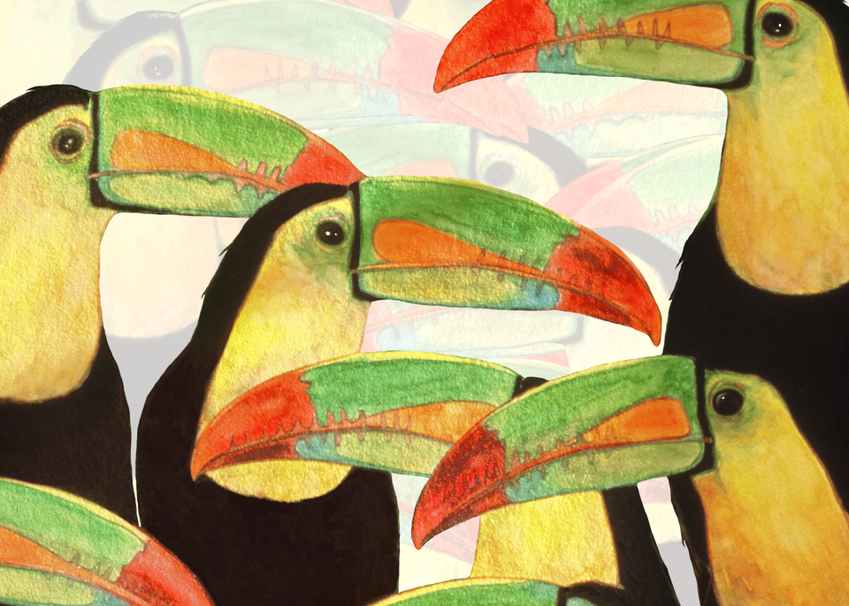 """Toucan Talk"" Painting by Dee Van Houten"