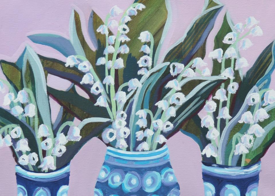 White Coral Bells Art | Kristin Webster Art Studio