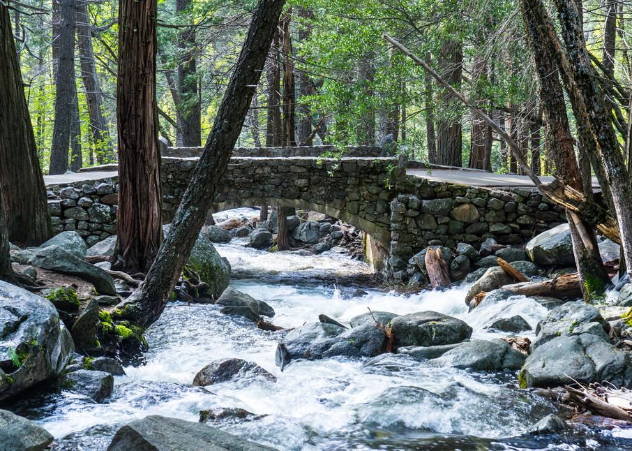Stone Footbridge - Yosemite National Park landscape photograph print