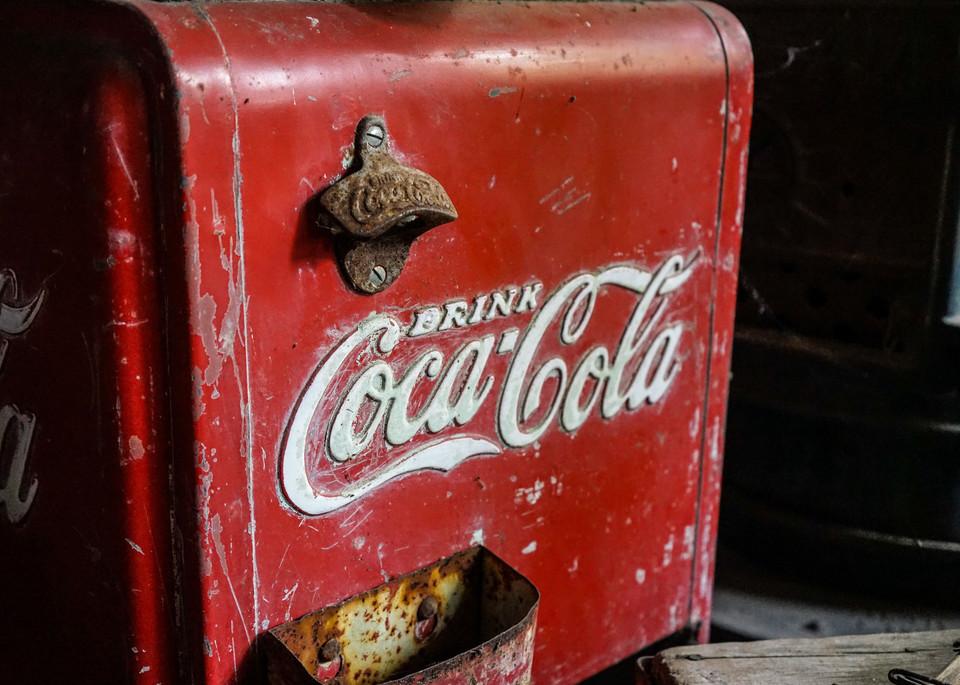 Antique Coca Cola Cooler - Vintage western movie set photograph print