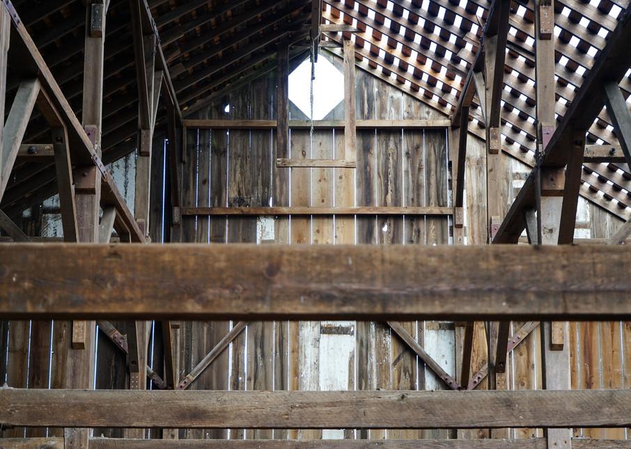 Structural Bones - California old barn architecture photograph print