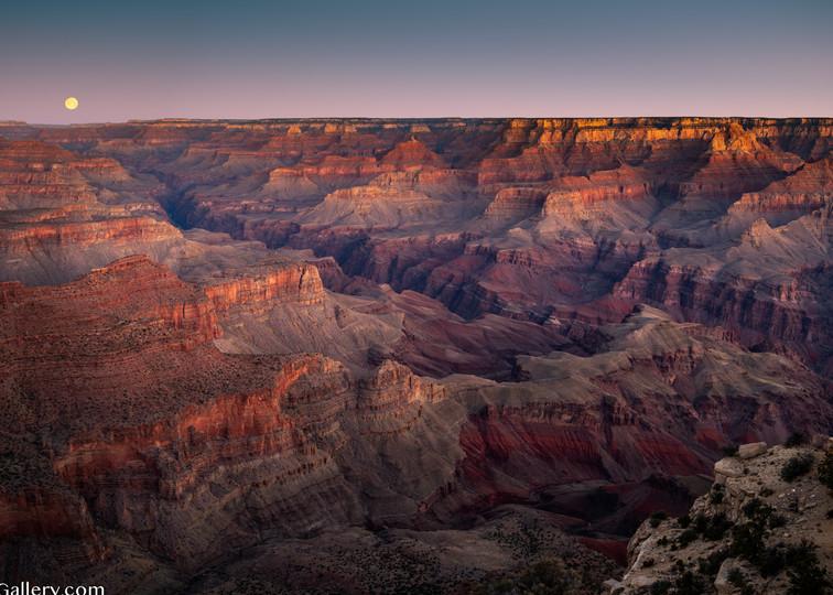 Sunrise Moon, Grand Canyon Art | The Carmel Gallery