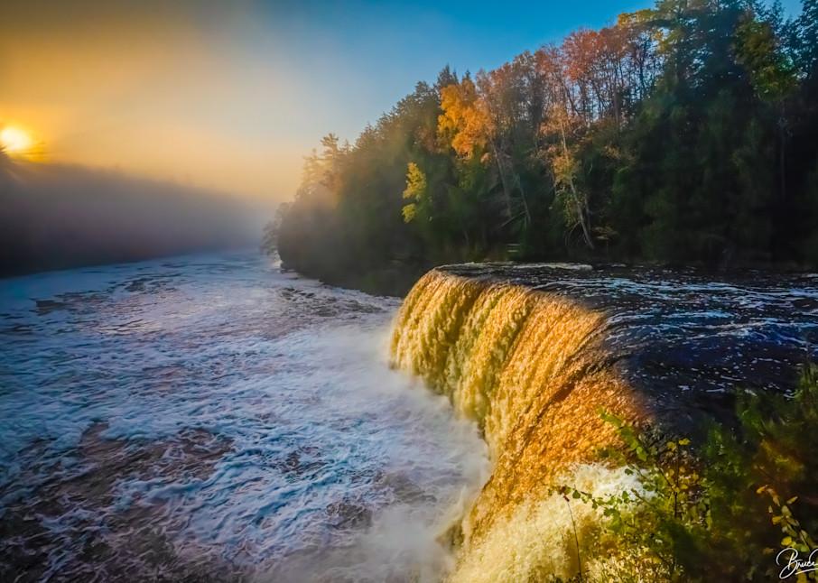 Foggy Dawn, Tahquamenon Falls Photography Art | brucedanz