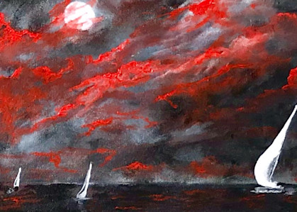 Sailing In The Moonlight Art | House of Fey Art