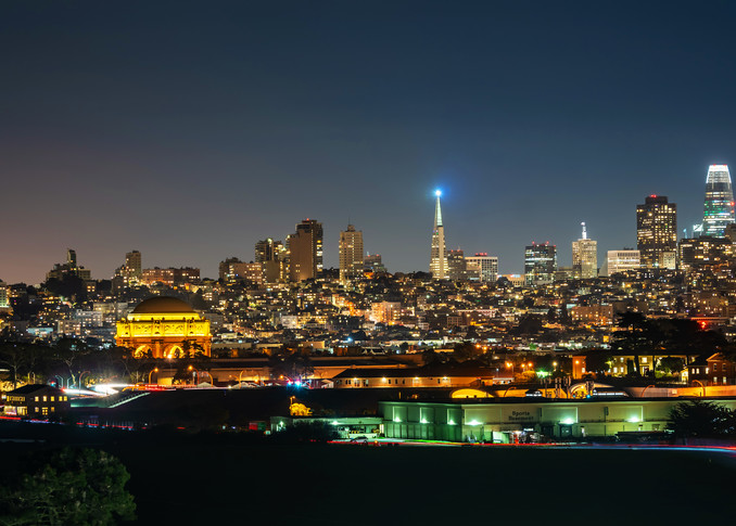 Chrissy Field View of San Francisco at Night - San Francisco High-Resolution Pictures